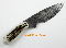Silver Stag Damascus Steel Field Slab  Hunting Knife