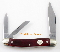 Boker Whittler Folding  Knife Smooth Red Bone Handles
