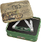 Case John Deere Medium Stockman Green Bone Handles