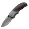 Boker 01MB178DAM 37 Layer Damascus Stubby Folder Ebony Wood