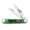 Case Christmas Trapper Folding Knife Green Bone