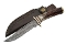 Damascus Steel El Dorado Skinner Fixed Blade Knife