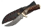 Damascus Steel Mountain Skinner Fixed Blade Knife Stag Handle