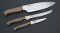 Silver Stag 3 PC Kitchen Knife Set D2 Tool Steel Walnut Handles